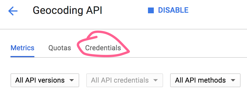 Generating API Credentials