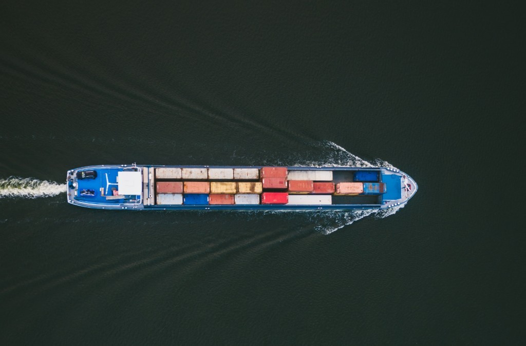 Shipping Boat Represents Containerized Microservices
