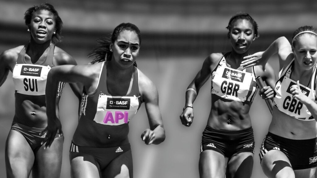 Women running towards an API-first approach