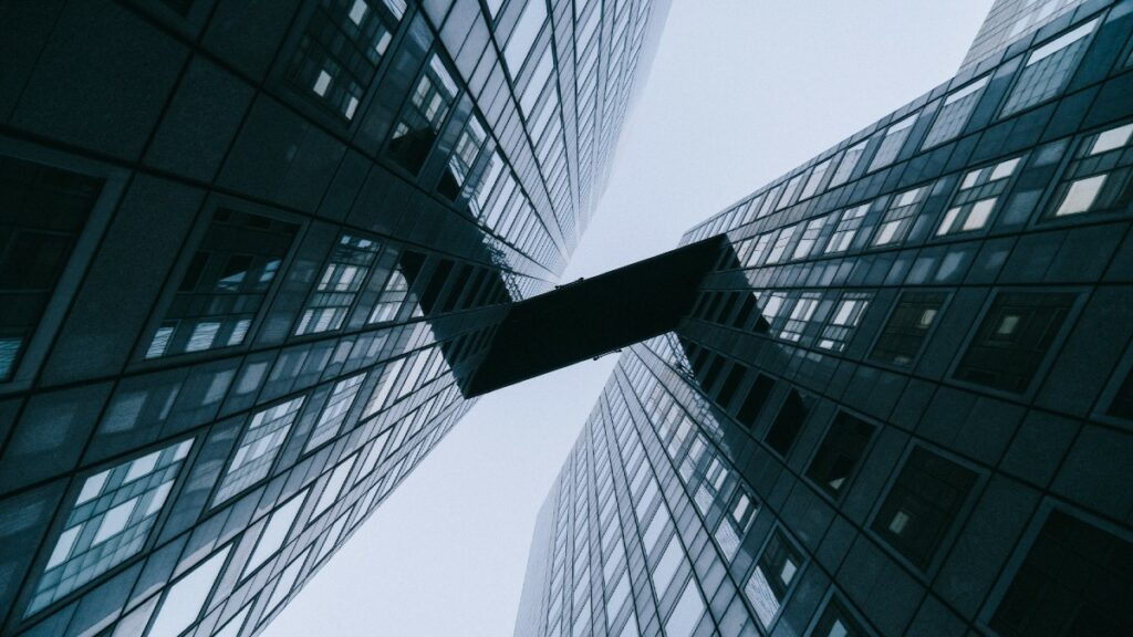 Buildings being linked by an API integration platform