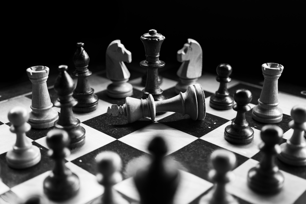 Chess pieces depicting a microapp strategy
