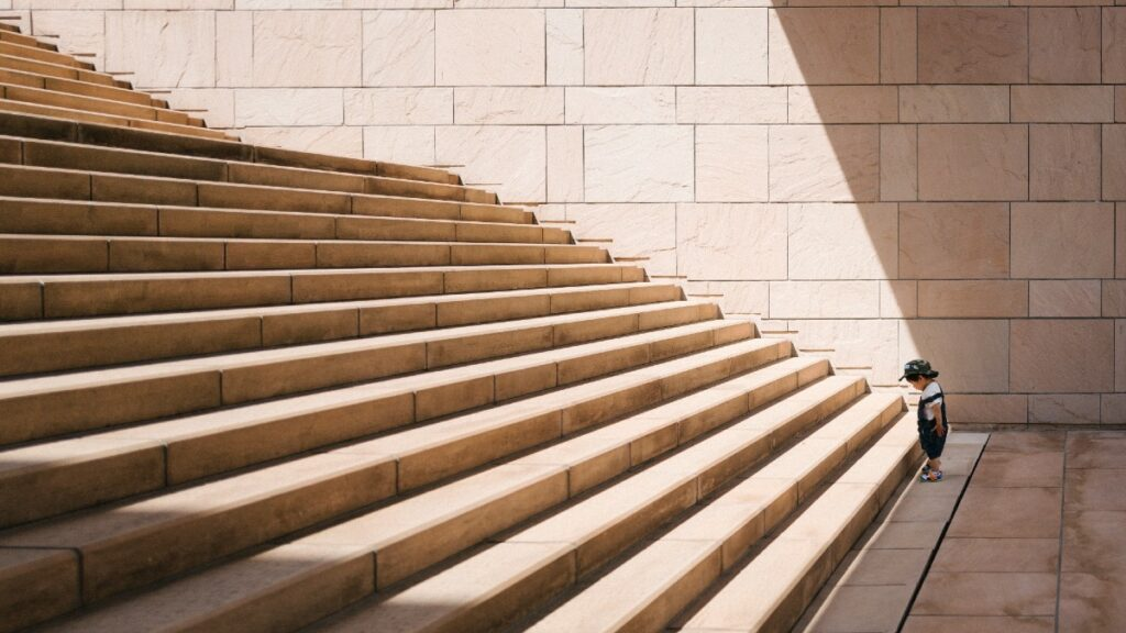 Child at stairs new to APIs