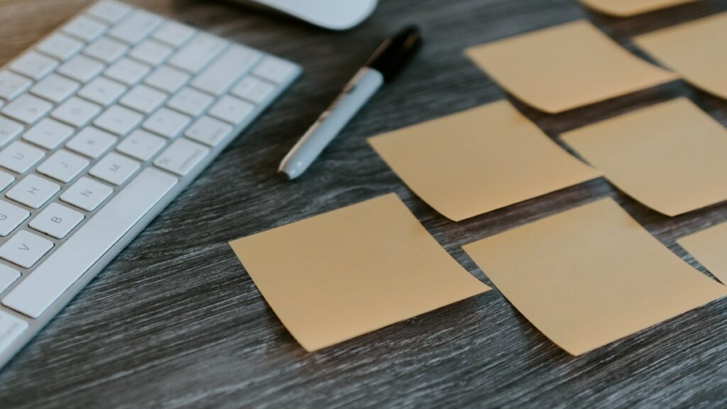 Sticky notes about APIs and organizational agility
