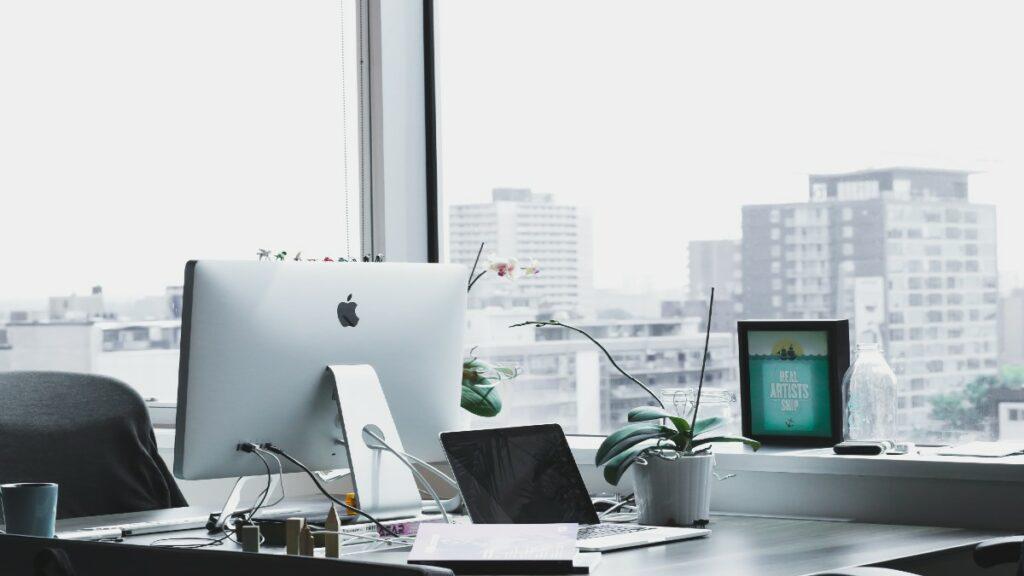 Computers at a desk needing APIs
