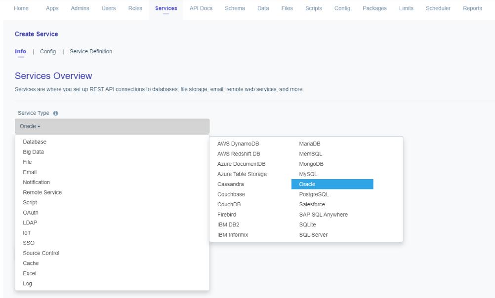 Oracle API - Service Creation
