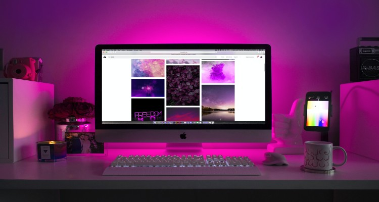 Desktop computer showing API consumption