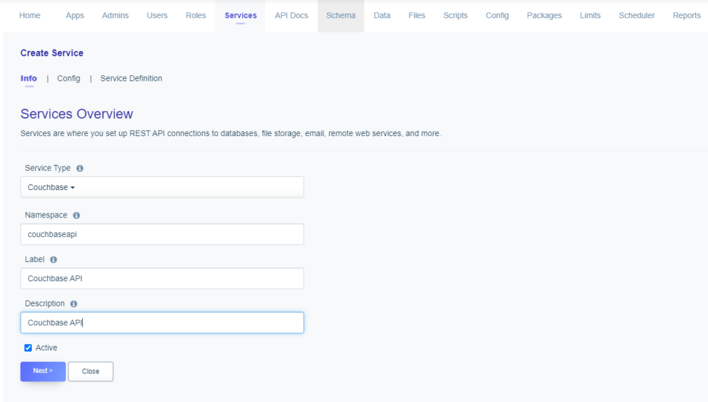 Service naming: Couchbase API