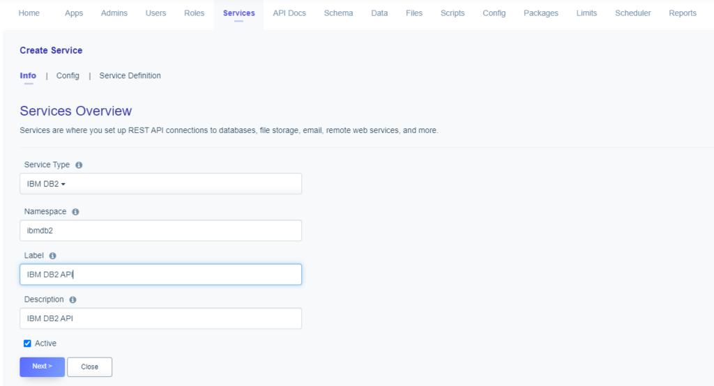Service Naming: Creating an IBM DB2 API