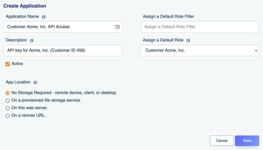 Creating the multitenant database API key