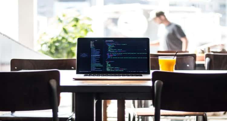 Laptop on table: Building an API